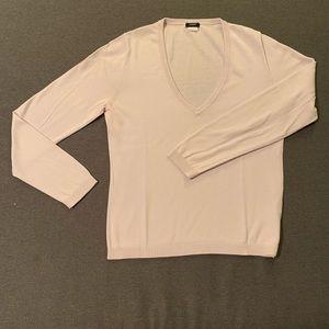 J. Crew Soft pale pink v-neck sweater